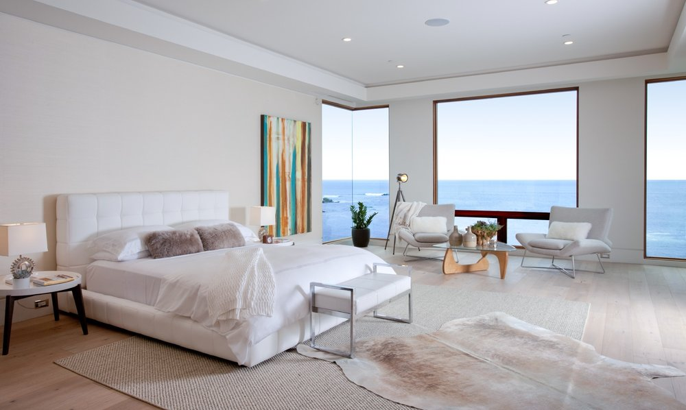 Master Bedroom with panoramic views of the ocean