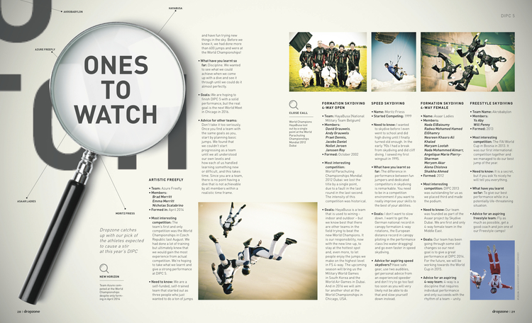 Ones to Watch   Dropzone Magazine  December 2014