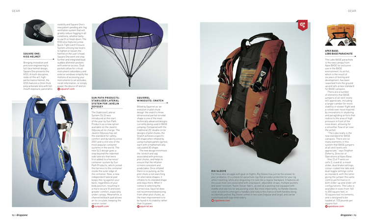 Gear Pages   Dropzone Magazine  December 2014