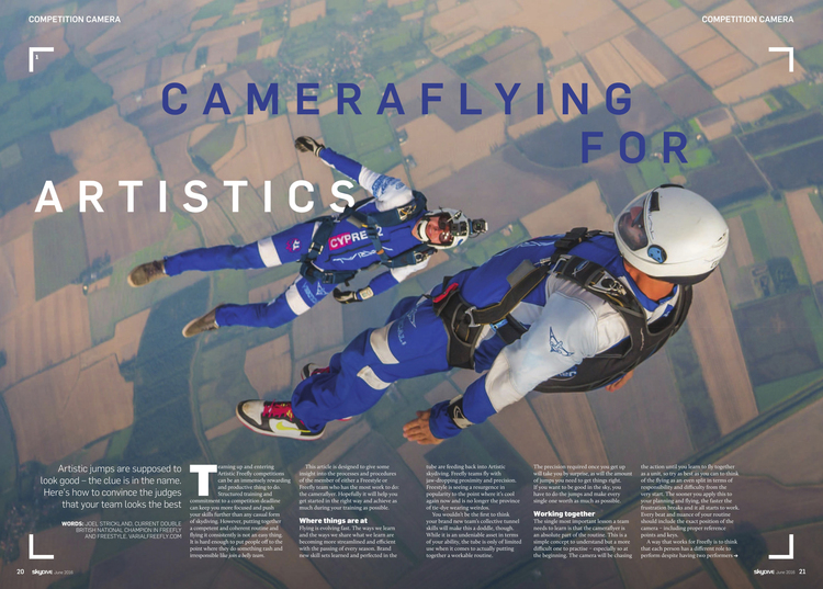 Competition Camera   Skydive the Mag  May 2016