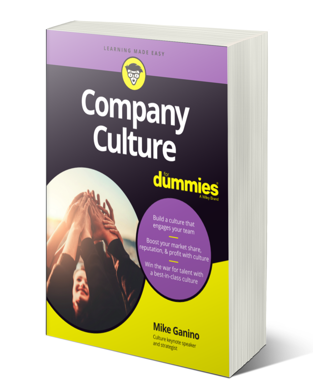 "Mike's book is out now  - Make a difference with company cultureOrganizations around the world are looking for the ""secret sauce"" to create strong company cultures—and this book lets you in on what you can do to share the same culture that drives places like Google, Southwest, and Wegman's to succeed.Inside, expert author on corporate culture Mike Ganino distills company culture down to the four core elements that you need to consider when making any business decision. Packed with real-world examples and practical approaches to help you build a culture that drives performance, increases bottom line results, and creates brands that people talk about and remember, this is the book you'll want to keep close by as you create your own unique culture.With this helpful guide, you'll boost your company's culture in no time!"