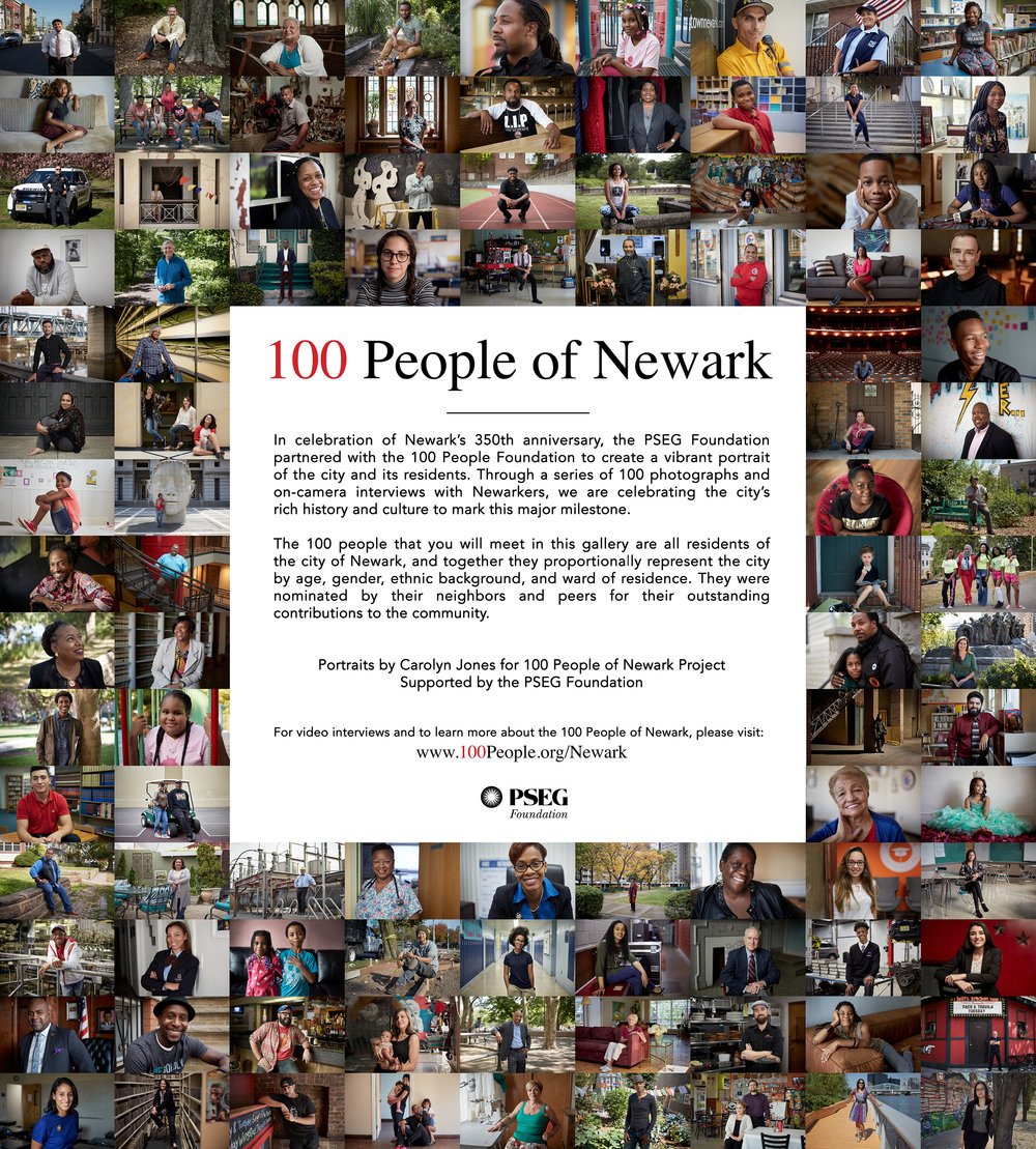 Click the image for a closer look at the 100 People of Newark and Leslie's Story.
