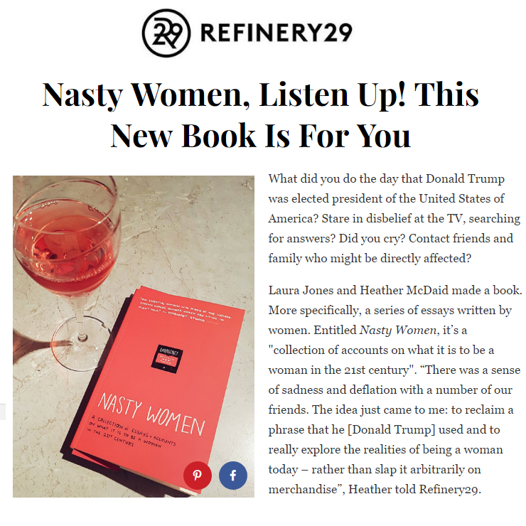 Nasty Women  x Refinery29