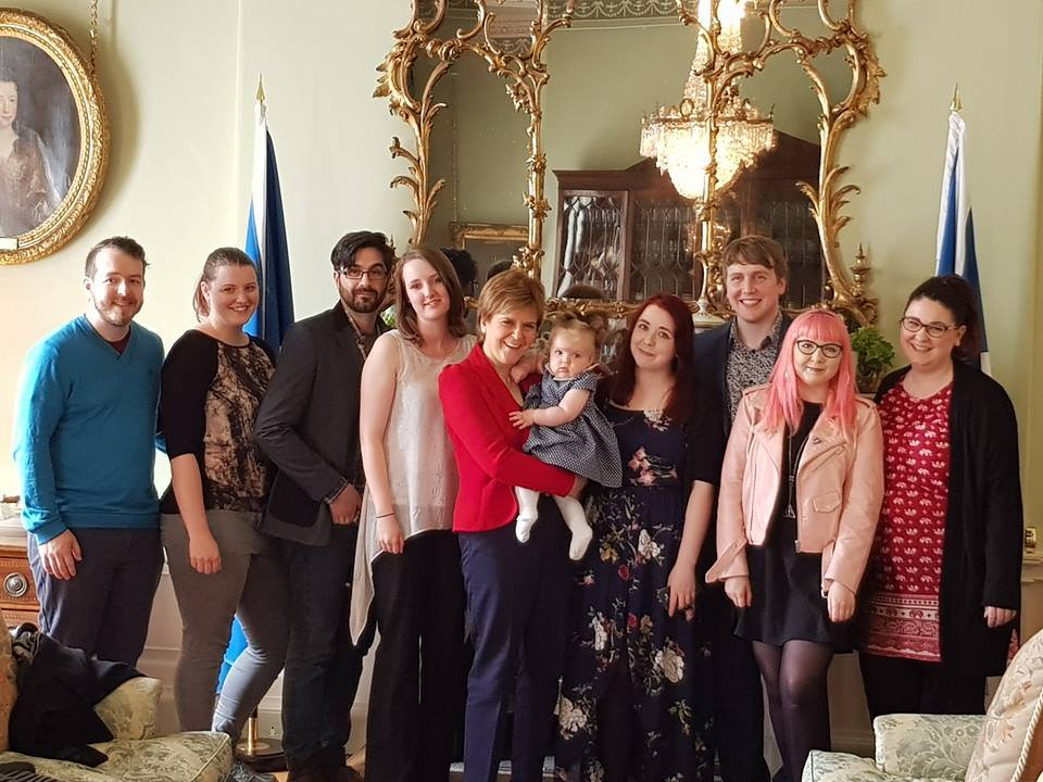 Some 404 friends and family meeting First Minister Nicola Sturgeon