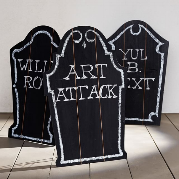 Chalkboard Tombstones (Pottery Barn)