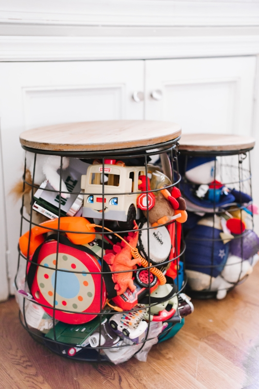 Three Basket Set Provides Toy Storage & Accent Table