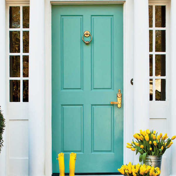 Add Life to Your Front Door with a Pop of Color (Image: Southern Living)