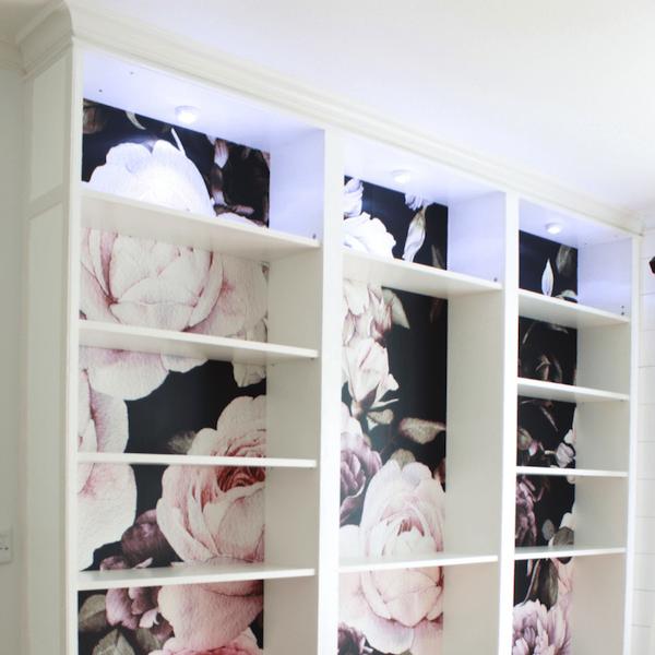 Floral Bookshelves by Top Shelf DIY