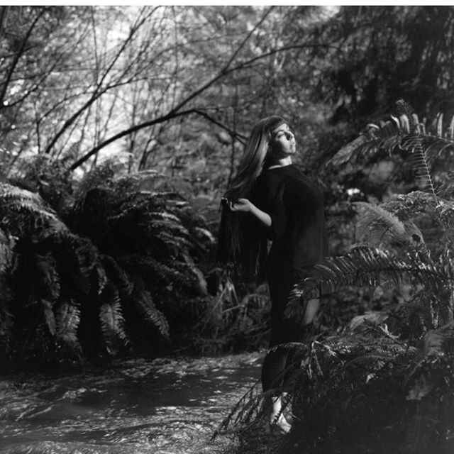 This one  She never disappoints. Always comes correct with her gigantic heart and unwavering patience. Happy day you were born and may this universe continue to adorn you with all her delights. Aho my spirit sis🌟  #tenaciousnostalgia #womanhood #girlgazing #girlgaze #pachamama #blackandwhitephotography #film #rolleiflex #humboldt #giganticferns #waterislife