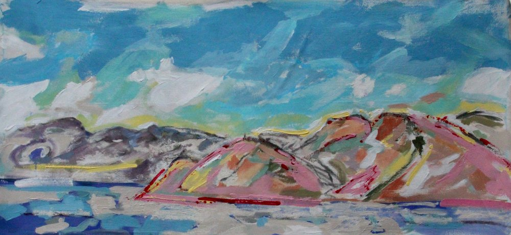 """Moving Mountains  54""""X 25""""  $1350"""