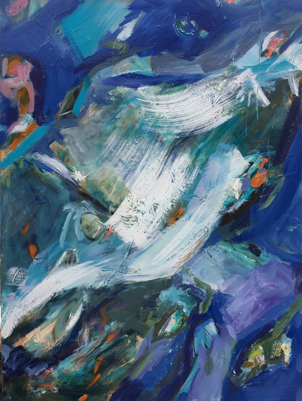 """Catching a Waterfall  36"""" x 60""""  $1700 ( Sold)"""