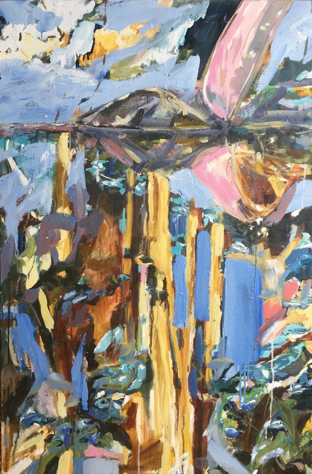 """A Canoe Reflection   24"""" x 36""""  (SOLD)"""