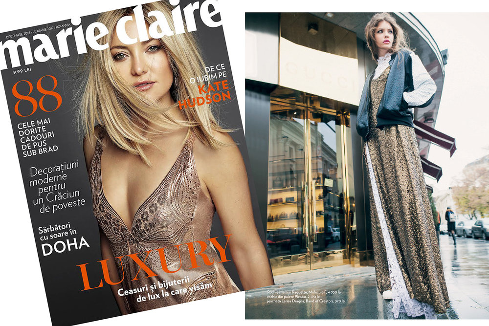 RAQUETTE Bridal Lace Gown featured in Marie Claire Romania