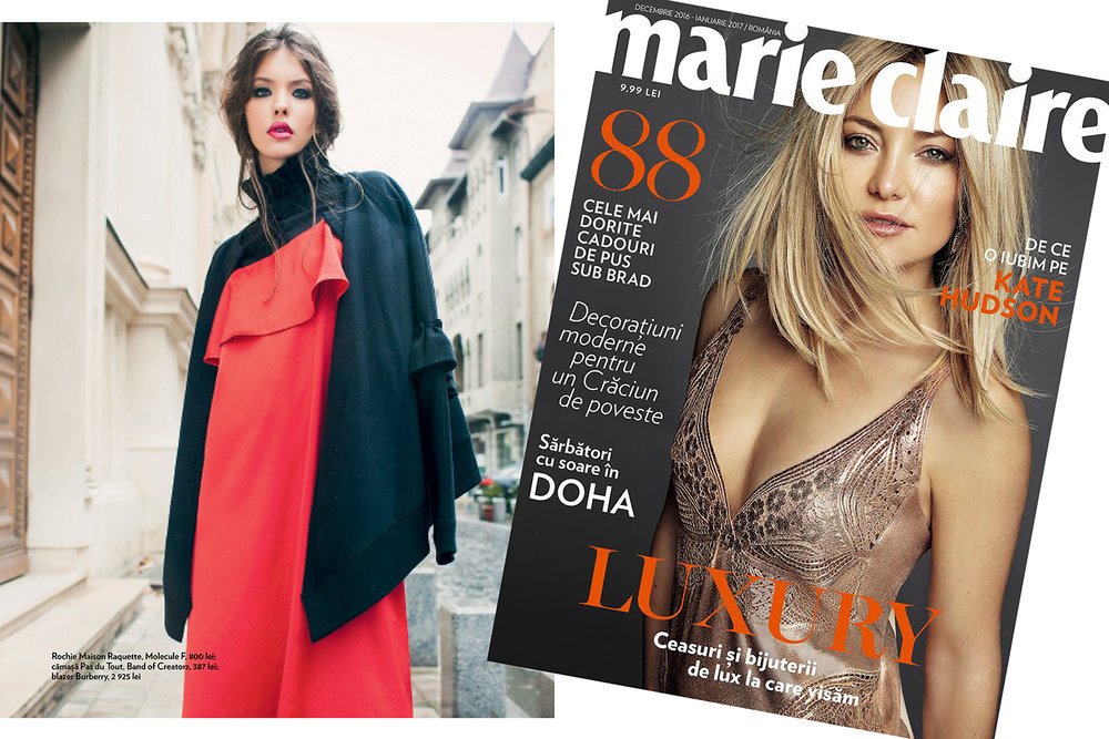 RAQUETTECami Silk Dress featured in Marie Claire Romania