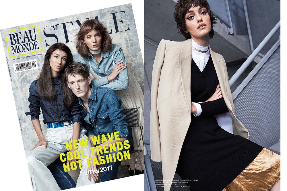 RAQUETTE Shirt featured in Beaumonde Style magazine (Romania)