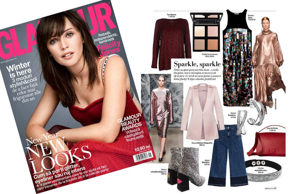 Shopping tips in Glamour Magazine: RAQUETTE Silk Blazer