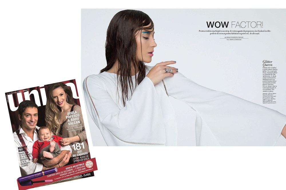 RAQUETTE Bridal Jumpsuit featured in UNICA magazine (Romania)