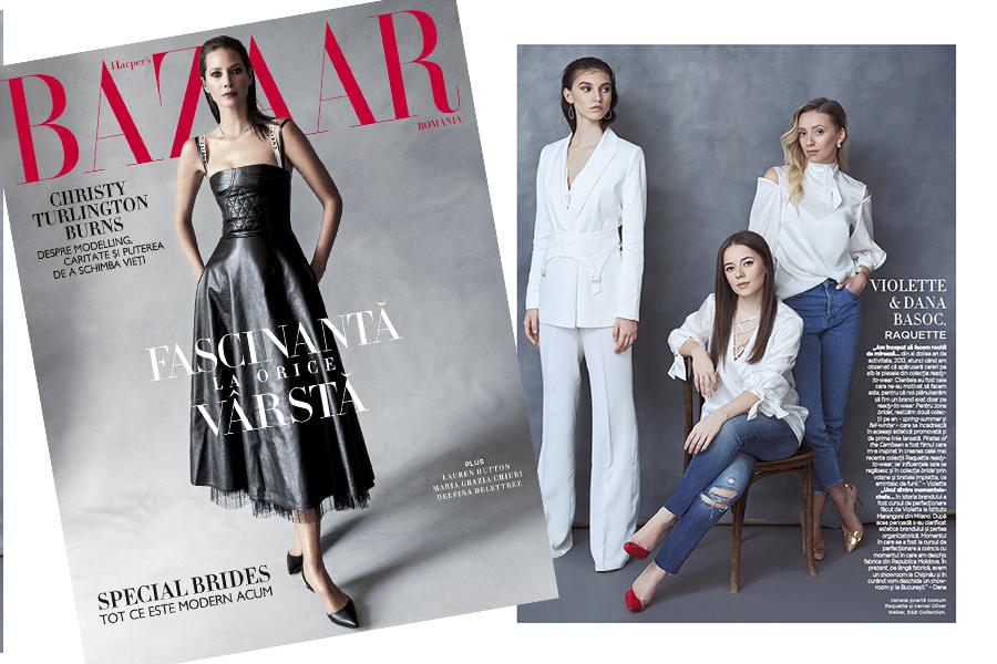 Violette & Dana featured in Harper's Bazaar April 2017 issue