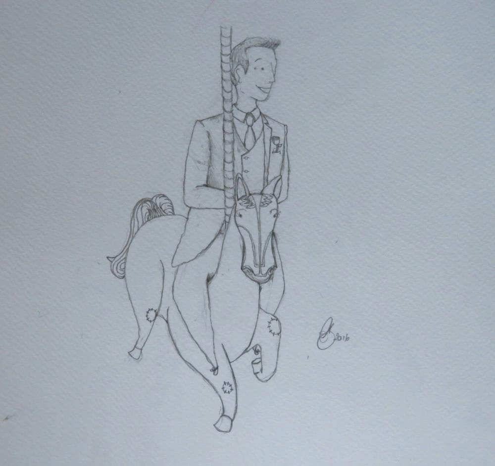 Amanda Bathory Merry go round cardiff bay illustration Groom first sketch.jpg