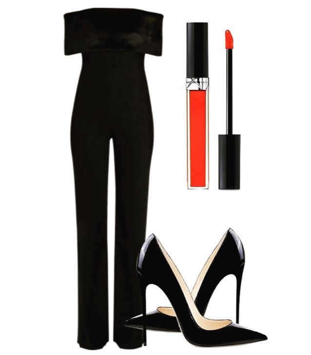 Jumpsuit: Sold Out Shoes: Amazon Lip Color: Dior