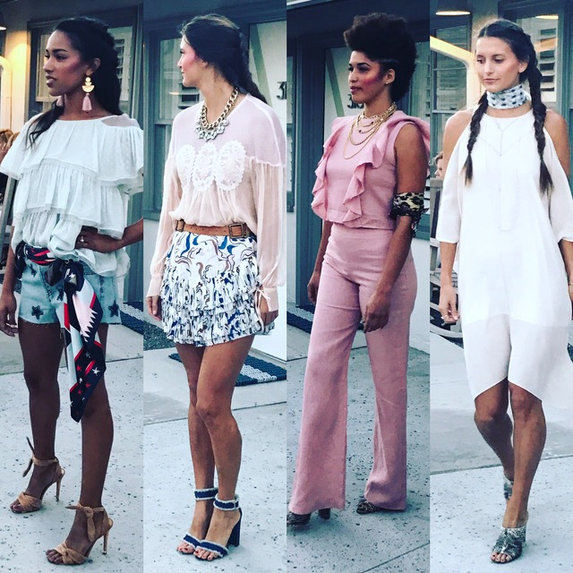 Some of the beautiful models from the show. I'm obsessed with those tan heels!!!!!