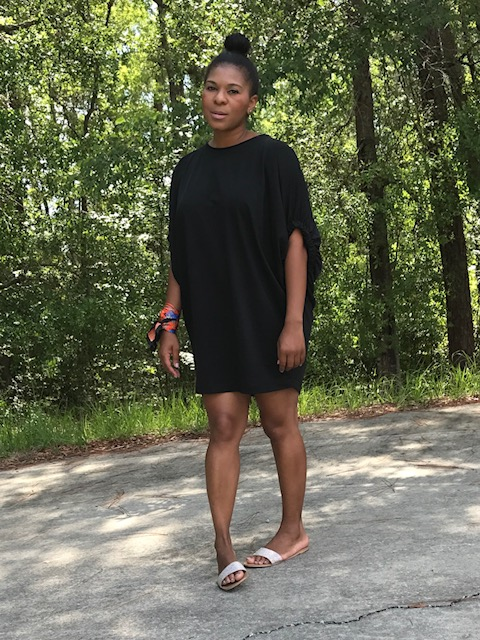 Dress:  Zara Scarf:  Zara Slides (old):  ALDO