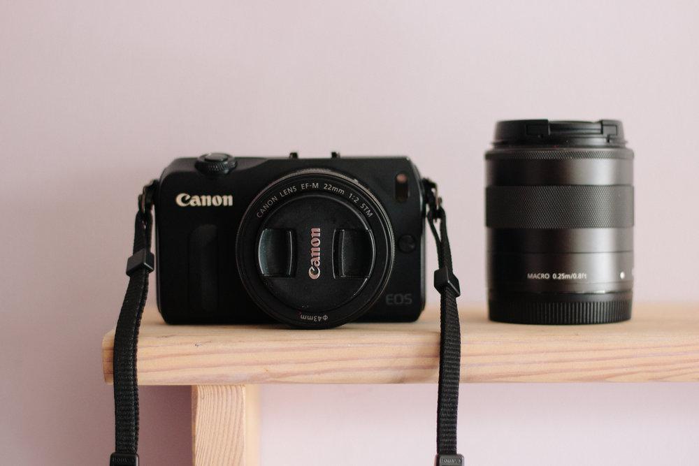 Canon EOS M, 22m f.2 lens, 18-55mm f3.5-5.6 lens