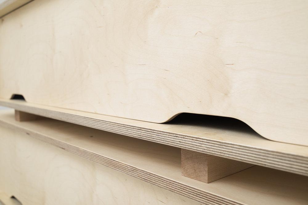 Birch Plywood Credenza