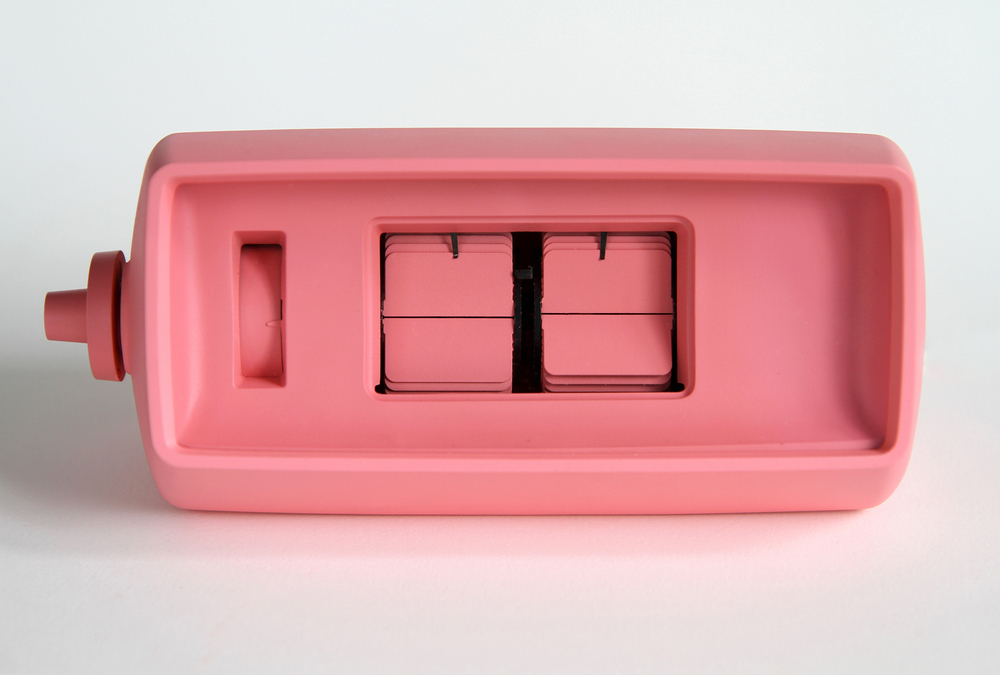 It's Schauss Time  2013 Vintage flip clock, Baker-Miller Pink paint 7x3.5x3.5 inches