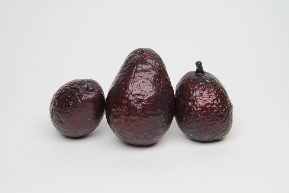 Aguacate Sangre  2016 Unique cast bronze (cast of imported Mexican avocado) Dimensions variable