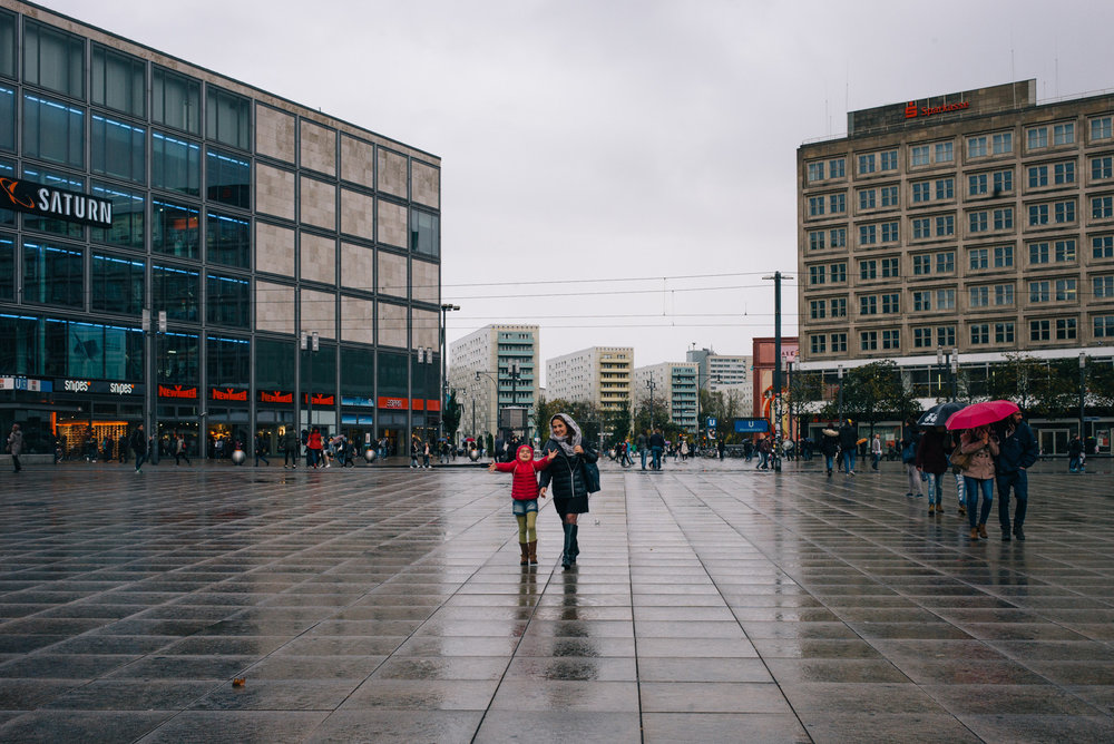 Rain in Alexanderplatz.