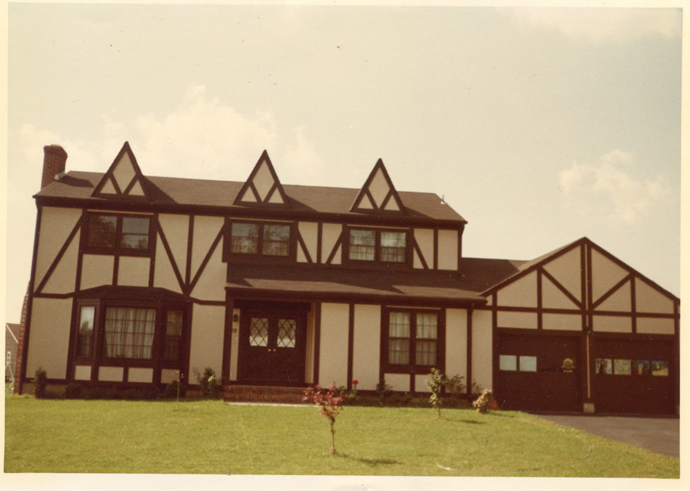 Our house in the suburbs.