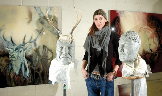 Masik alongside her  Revelation  collection, 2011.