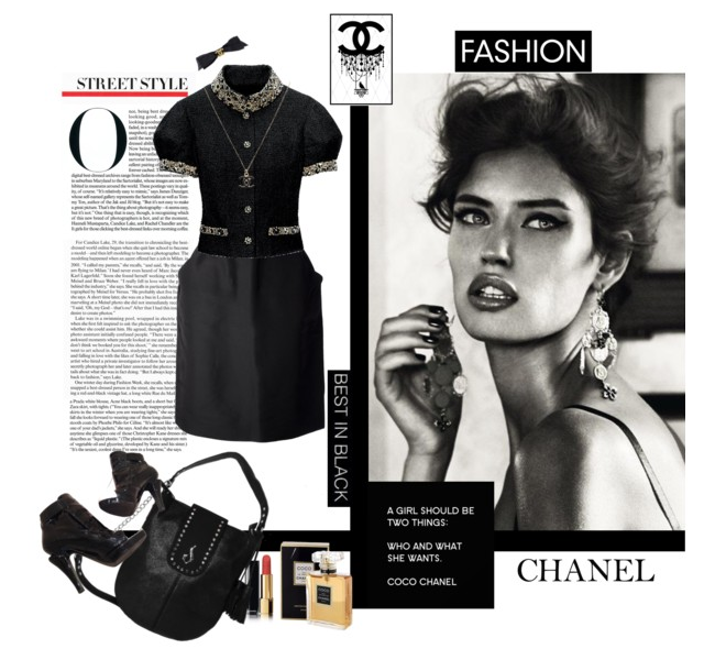 10fba4d558b9 Diana Soleil Collection in a montage of vintage Chanel. Timeless. New  fashion.