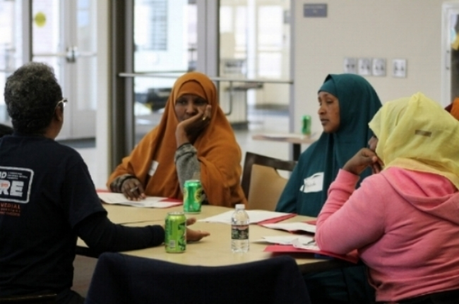 Mustafa is committed to supporting SFER MN members from recruiting and canvassing, to one-on-one time with parents, and helping them develop plans to advocate for their children.