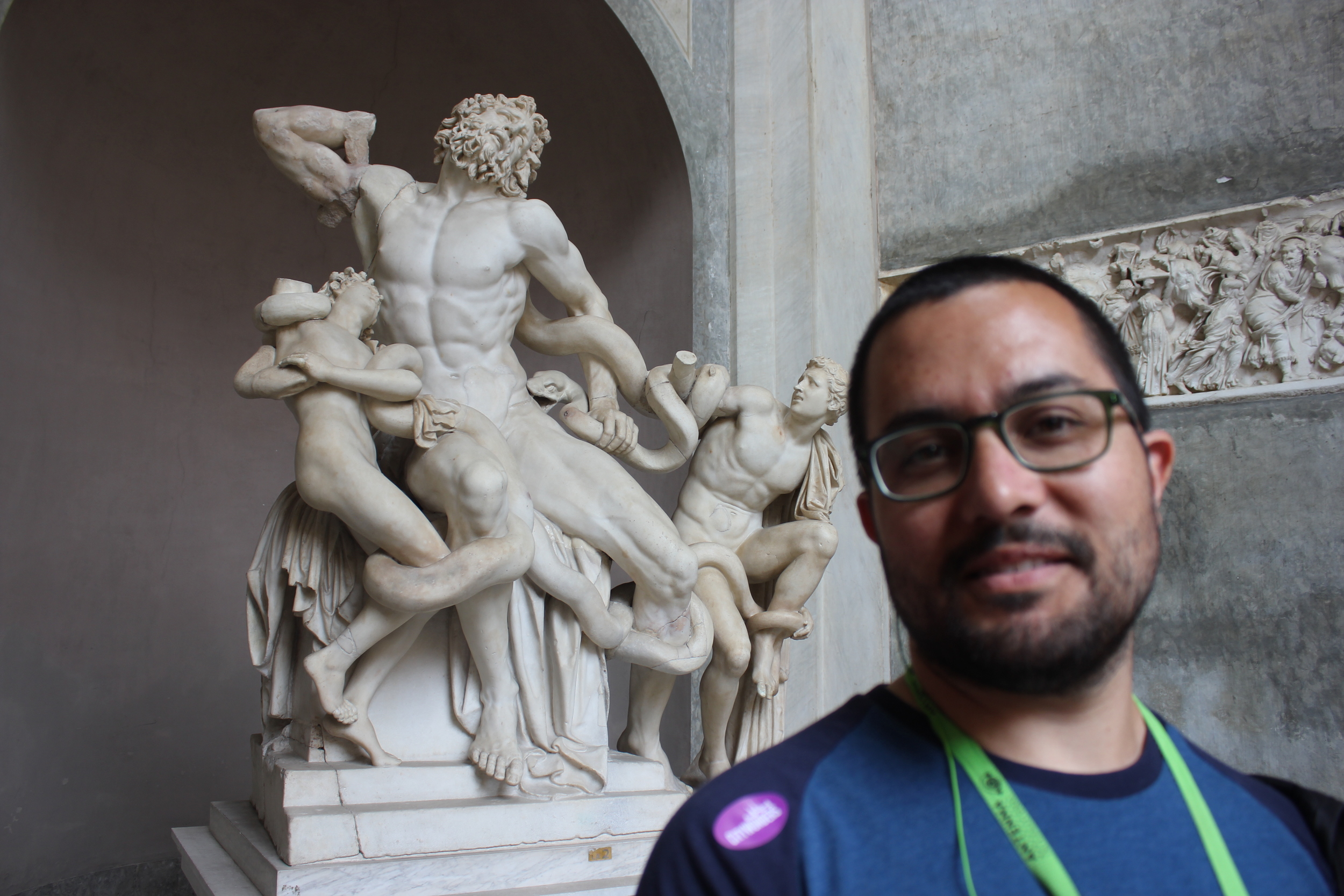 My husband was so excited to see Laocoön and His Sons at the Vatican Museum.