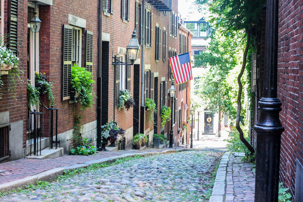 Acorn St. - The most frequently photographed street in the United States
