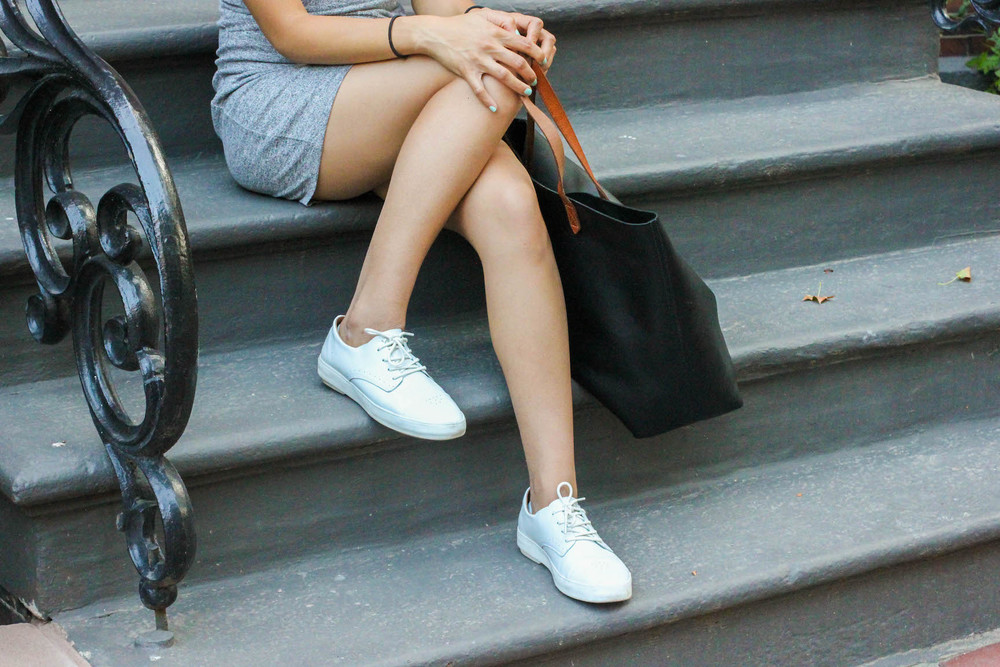 Unnown shoes + Madewell bag