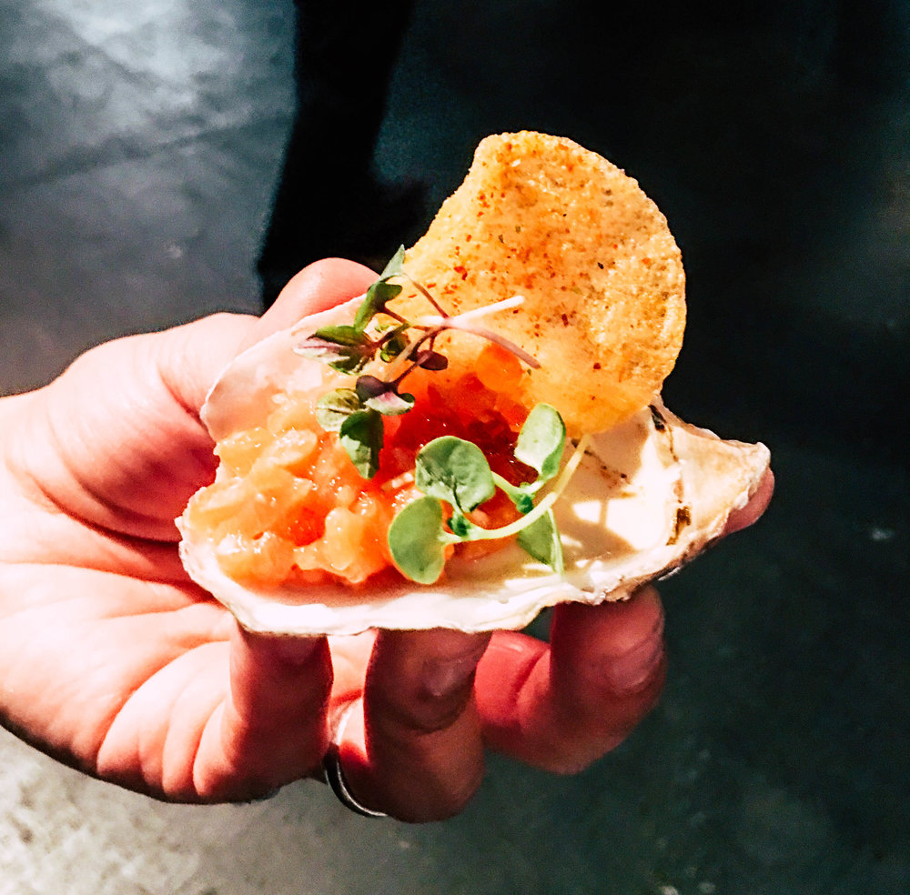 Waterbar // King Salmon Tartare on Panna Cotta