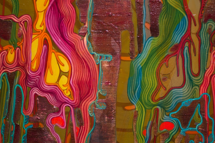 'Neon Effulgence' (even more detail), acrylic on canvas, 48 x 60, 2010.jpg