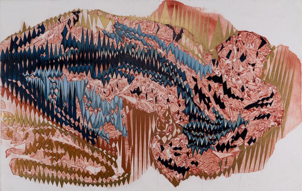 "'Static', 11"" x 17"", acrylic on canvas"