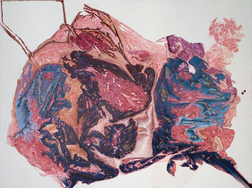 "'Blind Progression', 36"" x 48"", acrylic on canvas"