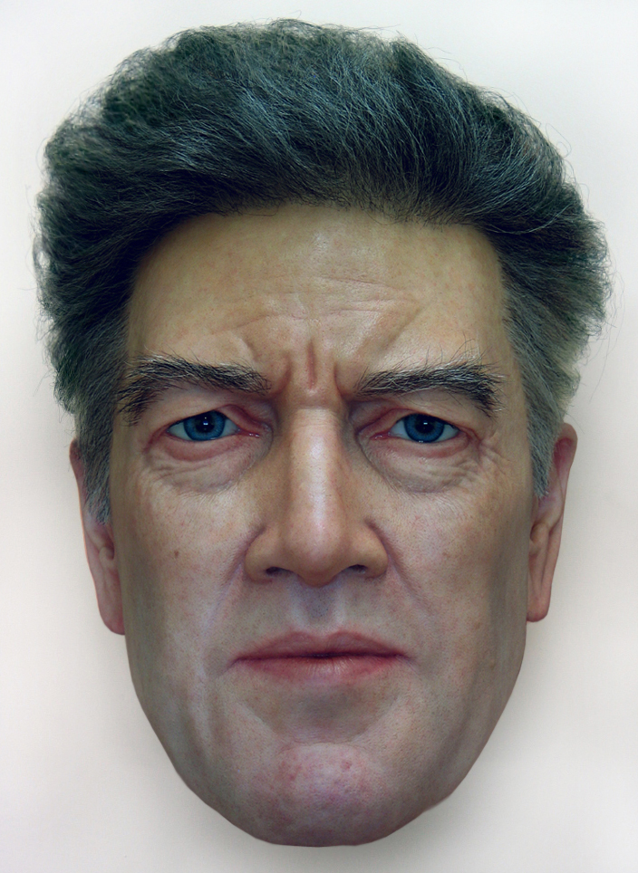 """David Lynch"" - Silicone and mixed media"