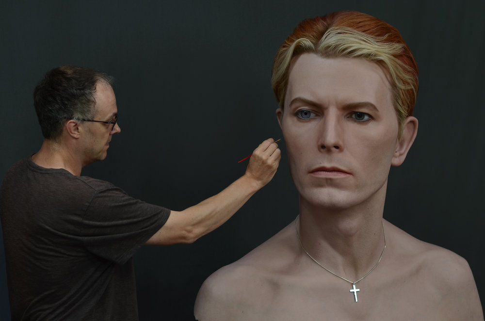 """David Bowie"" Silicone and Mixed media"