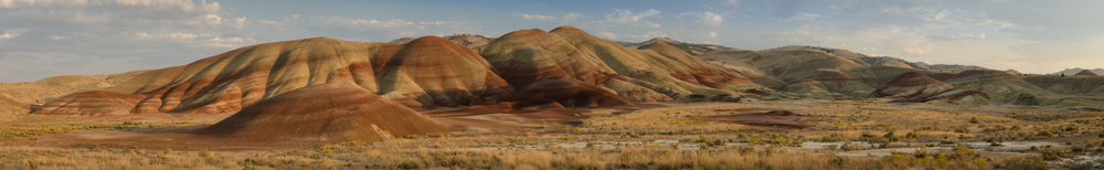"painted hills panorama 1   up to 17"" x 108""  2011"