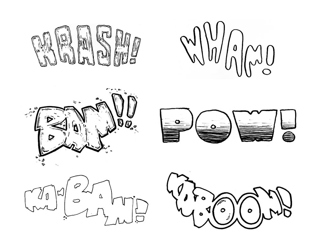 comic book TYPOGRAPHY exploration