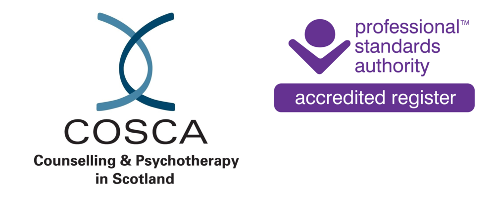 I am a Practitioner Member ( no. 3459 ) of COSCA (Counselling and Psychotherapy in Scotland).  The COSCA register is accredited by the Professional Standards Authority for Health and Social Care.   Phone  01786 475 140   Email     info@cosca.org.uk    Website   www.cosca.org.uk