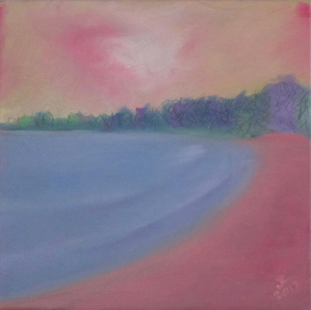 - Katherine's BeachOil on Canvas12 by 12Now residing in Connecticut