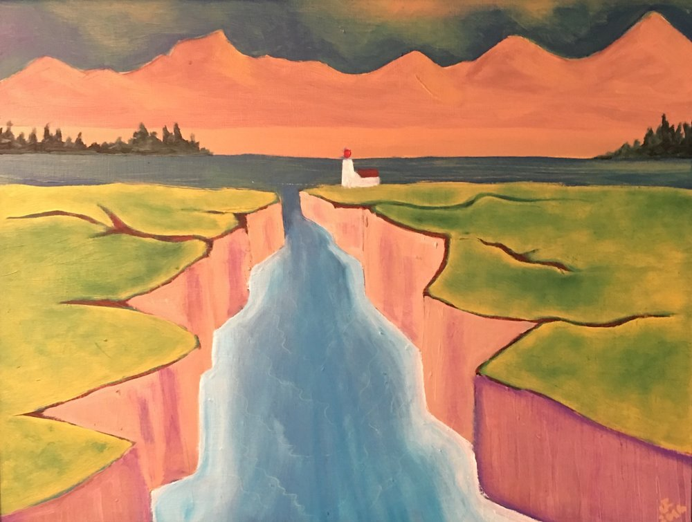 Light at the Breach - Oil on Canvas18 x 24Now residing in Sanford, ME