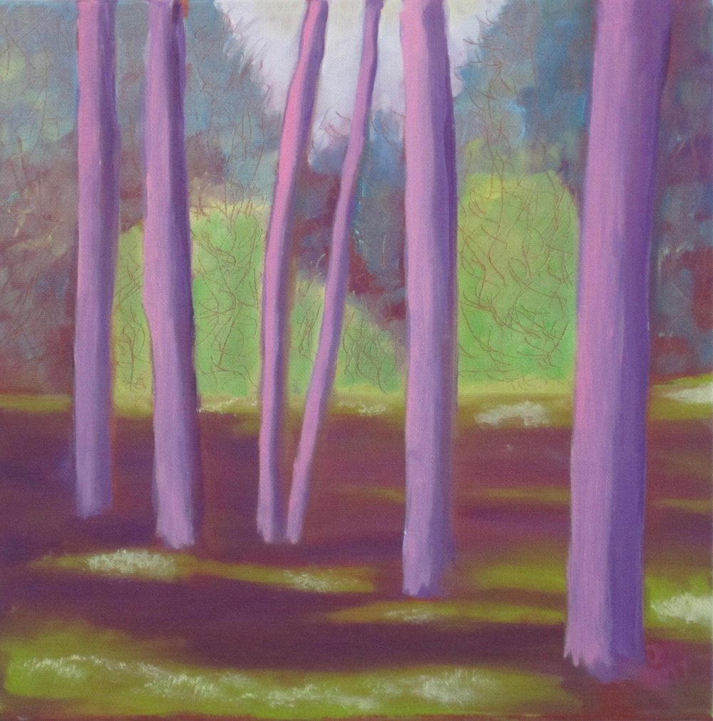 Purple Glade - Oil on Canvas12 x 12Now residing in Connecticut